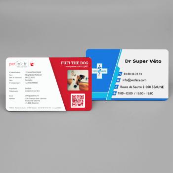PET IDENTITY CARD PERSONNALISÉE (LOT de 50)