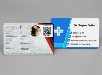 Vethica lance son nouveau produit : la Pet Identity Card personnalisée associée à votre carte de visite vétérinaire !